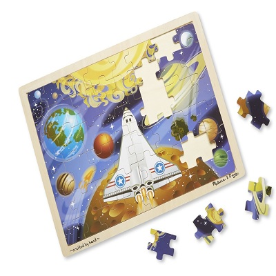 melissa & doug space voyage wooden puzzle pieces