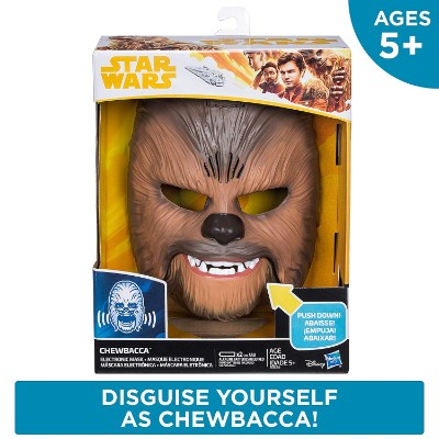 chewbacca electronic mask star wars toy pack