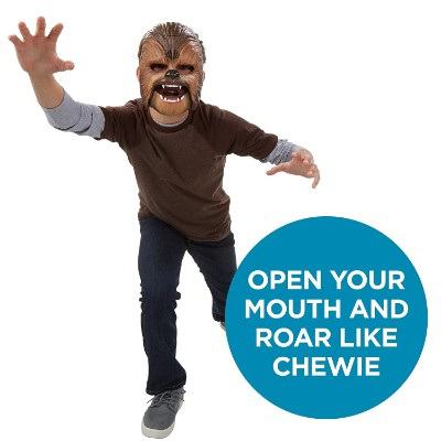 chewbacca electronic mask star wars toy chewie