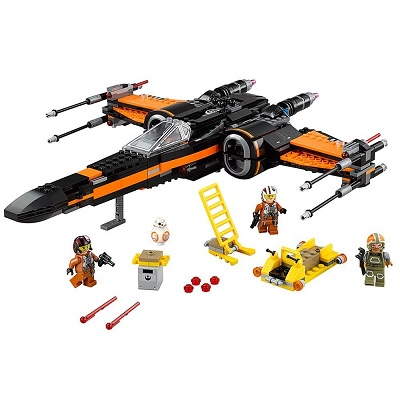 lego star wars poe's X-wing fighter pieces