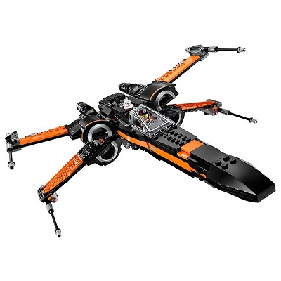 lego star wars poe's X-wing fighter articulated wings