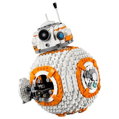 LEGO star wars VIII BB-8 1100 pieces opening latch