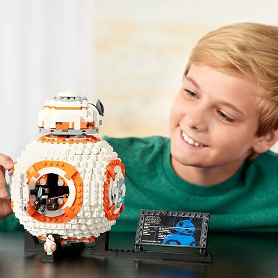 LEGO star wars VIII BB-8 built-in wheel