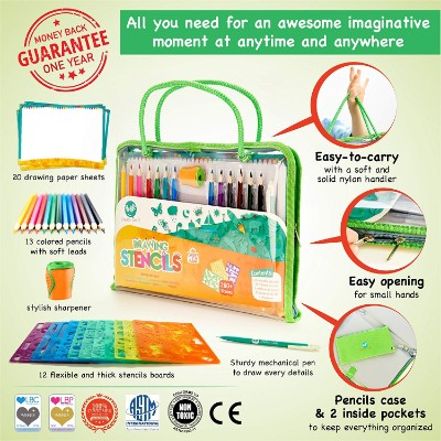 creabow crafts stencils and drawing art and craft sets for kids pieces