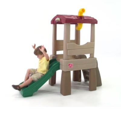 naturally playful lookout treehouse indoor toddler slide playtime