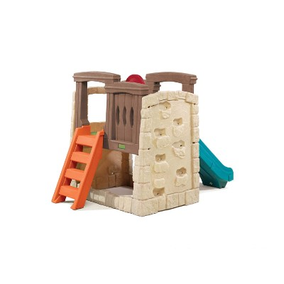 naturally playful woodland climber indoor toddler slide back view