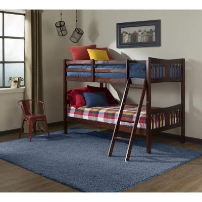 storkcraft caribou hardwood twin bunk and loft bed for kids room