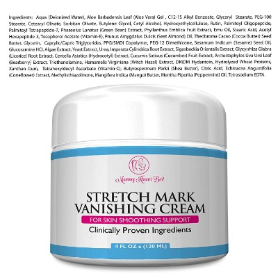 mommy knows best vanishing stretch mark cream ingredients