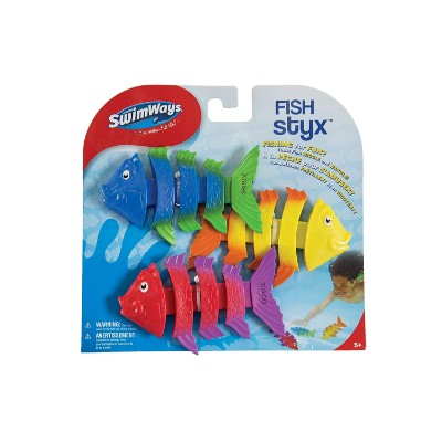 swimWays fish styx 3 pack water toys for kids package