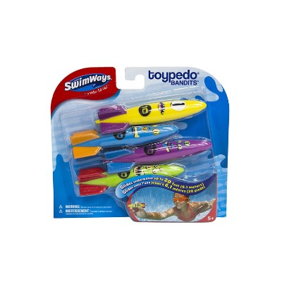 swimWays toypedo bandits water toy for kids package