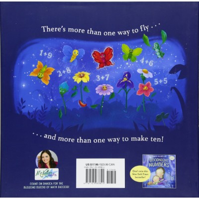 ten magic butterflies book for 5 year olds back