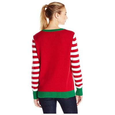 the ugly holidays light up christmas sweater back