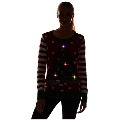 the ugly holidays light up christmas sweater glow