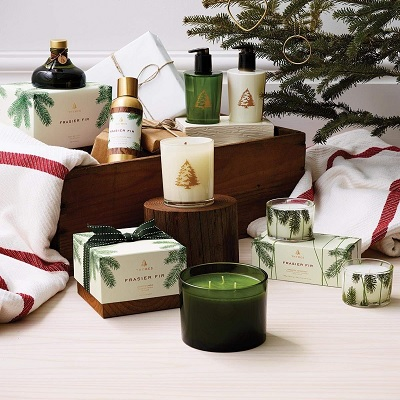 Thymes fir Christmas candle
