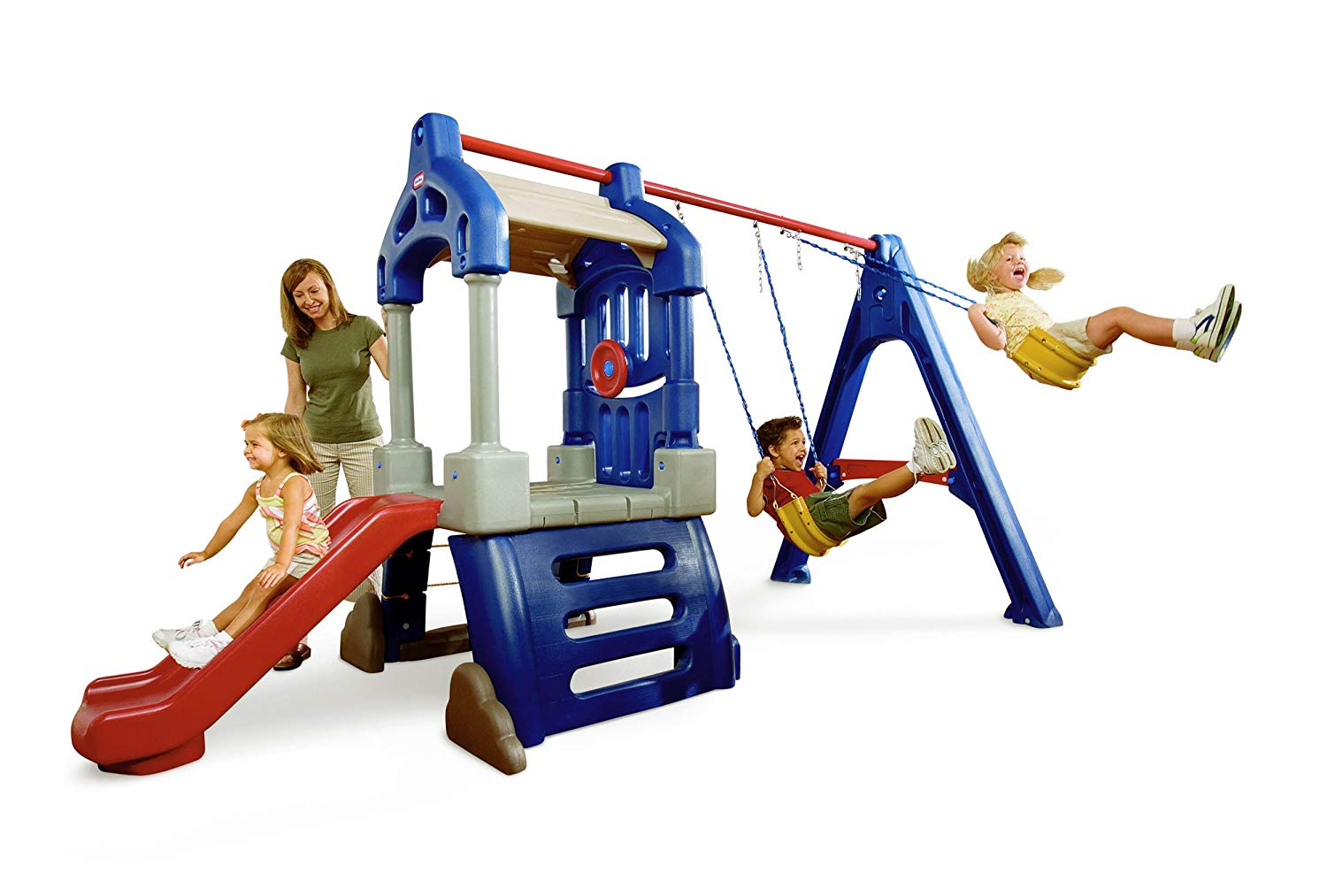 The Little Tikes Clubhouse Swing Set