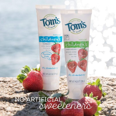 tom's of maine anticavity fluoride toddler toothpaste natural