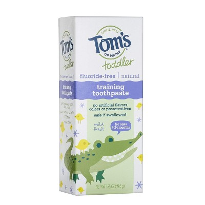 tom's of maine toddlers fluoride-free toddler toothpaste box