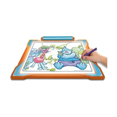 light-up tracing pad dreamworks trolls toy drawing