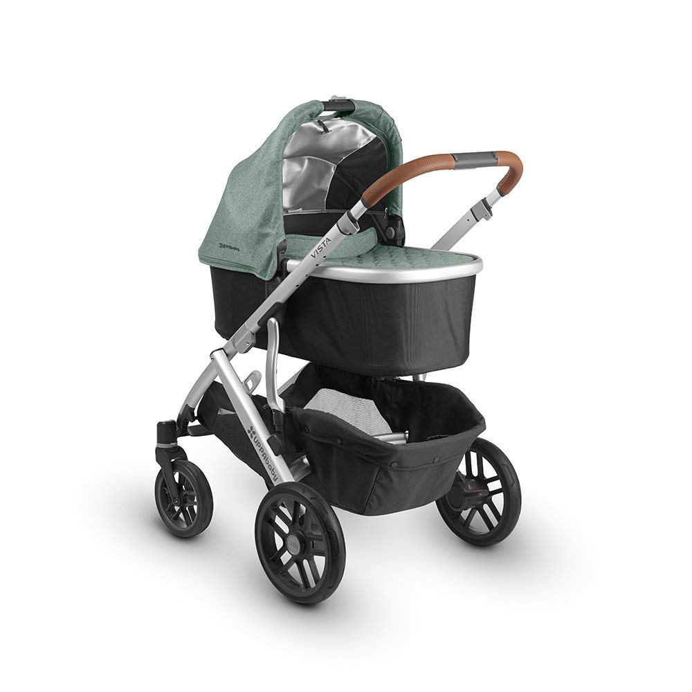The UPPAbaby Vista Stroller features an easy-access basket.
