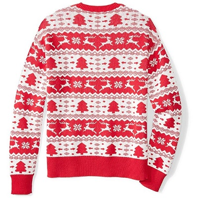ugly fair isle unisex christmas sweater back