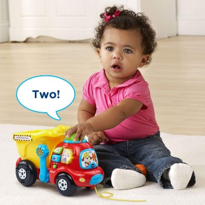 vTech drop & go dump truck pull toys for kids phrases