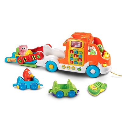 vTech pull & learn car carrier toy cars pieces