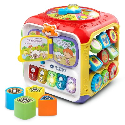 vTech sort and discover activity cube pieces