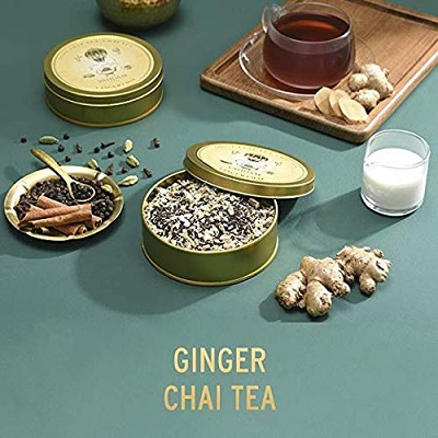 vahdam chai tea christmas gift for mom ginger