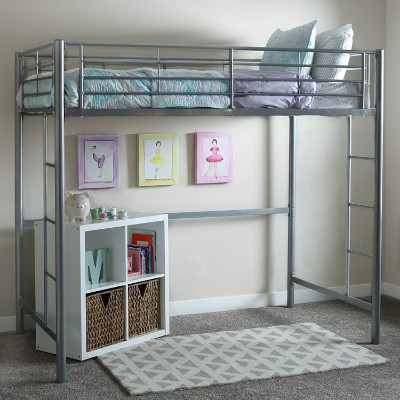 WE furniture twin metal bunk and loft bed for kids frame room