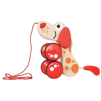 walk-a-long puppy pull toy for kids side view