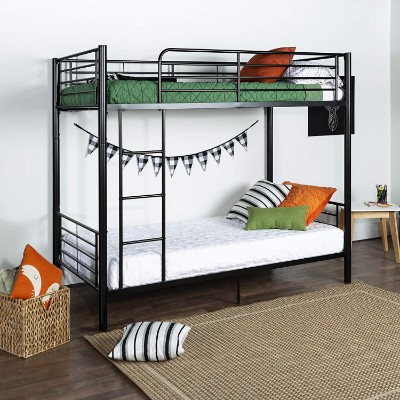 walker edison twin-over-twin bunk and loft bed for kids room