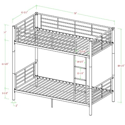 walker edison twin-over-twin bunk and loft bed for kids size