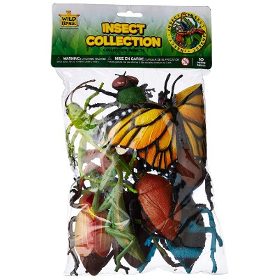 wild republic polybag insect 10 pieces bug toys bag