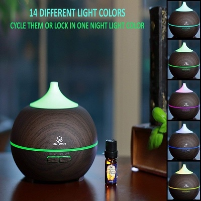 zen breeze essential oil diffuser christmas gift for mom colors