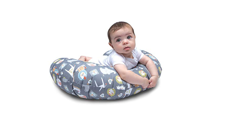 The Boppy Nursing Pillow can be used as a tummy time positioner.