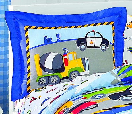 dream factory trucks tractors kids' bedding pillow