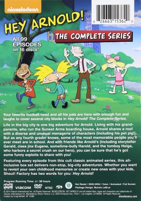 hey arnold nickelodeon show complete series