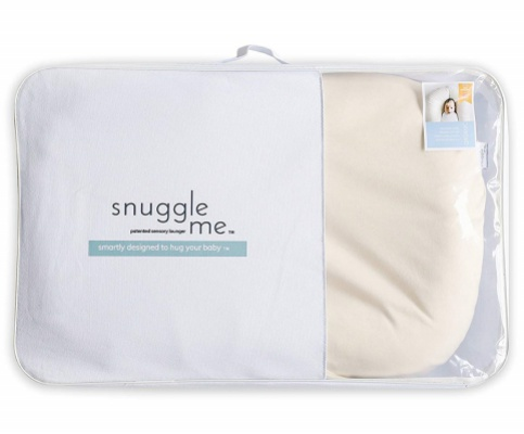 snuggle me organic patented baby lounger packaging