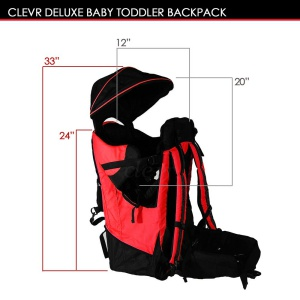 clevr cross country baby carrier for hiking size