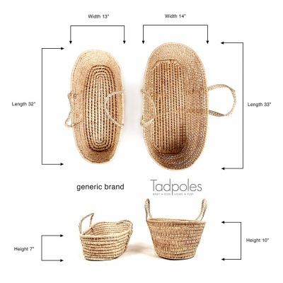 Tadpoles All Natural Moses Basket Dimensions