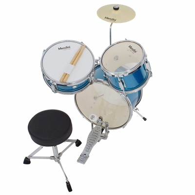 mendini cecilio 3-piece junior set drum set for kids and toddlers angle