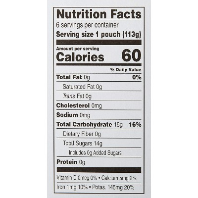 mama bear organic baby food nutrition facts