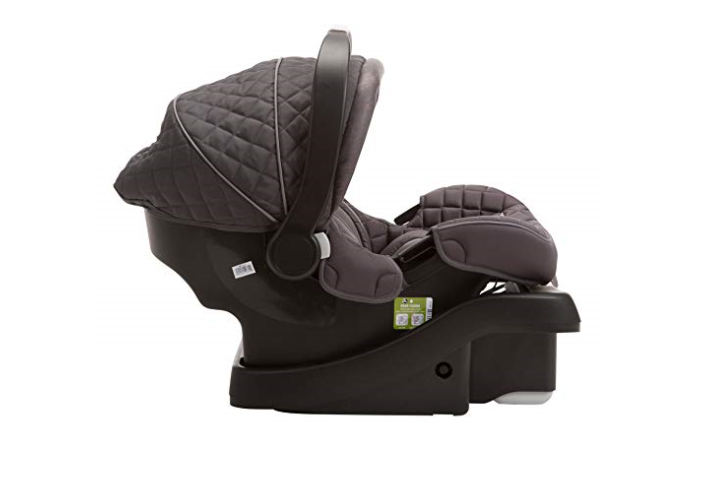 The Eddie Bauer SureFit Infant Car Seat, Graphite is comfortable.