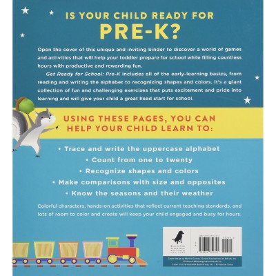 get ready for school educational book back