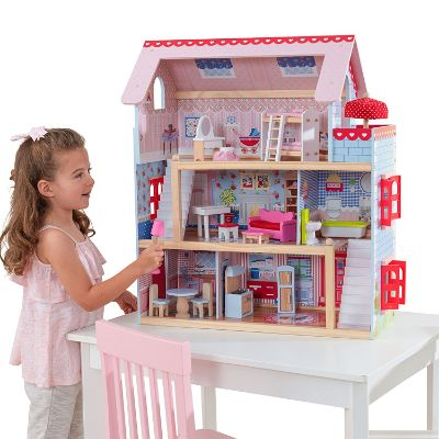 KidKraft Doll Cottage With Furniture for 5 year old girl
