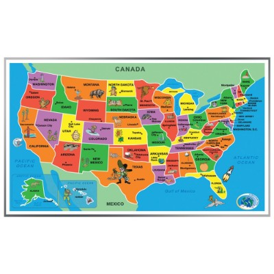 united states of america 55 pieces jigsaw puzzle for kids map