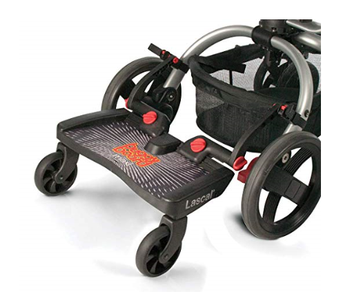 The Lascal BuggyBoard Maxi, Universal Ride-On Stroller Board is compatible with 95% of strollers.