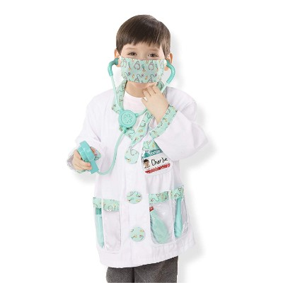 role play costume dress-up kids doctors kit boy dressed up