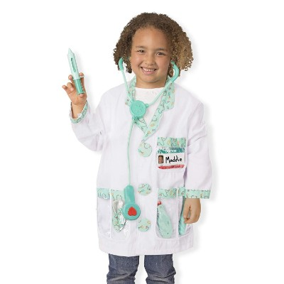 role play costume dress-up kids doctors kit girl dressed up