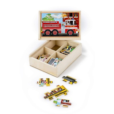 melissa doug vehicles 4 in a box jigsaw puzzle for kids storage